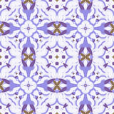 Pattern 2-18. Abstract seamless pattern with geometric and floral ornaments, vintage, ethnic, boho style Stock Photo