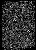 Pattern of abstract shapes on black background. You can use this favulous background as you want Royalty Free Illustration