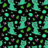 Pattern with abstract shapes stock illustration