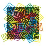 Pattern. Abstract pattern with small and colorful labyrinths Stock Image