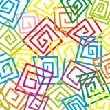 Pattern. Abstract pattern with small and colorful labyrinths Stock Images