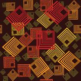 Pattern with abstract squares Stock Images