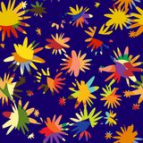 Pattern from abstract to flowers and petals Royalty Free Stock Photography