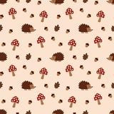 Pattern with acorns vector illustration