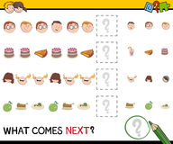 Pattern activity for children Stock Photo