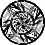 Pattern. Aggressive pattern placed in a circle Royalty Free Illustration