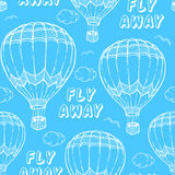 Pattern with air balloons Royalty Free Stock Images