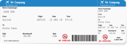 Pattern of airline boarding pass ticket Stock Images