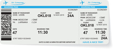 Pattern of airline boarding pass ticket Stock Photography