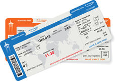 Pattern of airline boarding pass ticket Royalty Free Stock Photography