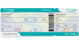 Pattern of airline boarding pass ticket Stock Photos