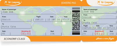Pattern of airline boarding pass ticket Stock Photo