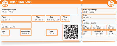 Pattern of airline boarding pass ticket Royalty Free Stock Photos