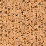 Pattern with alchemy symbols Royalty Free Stock Photos