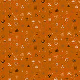 Pattern with alchemy symbols Stock Image