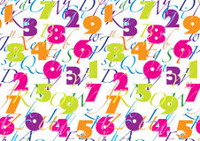 Pattern with alphabet & number Royalty Free Stock Photography