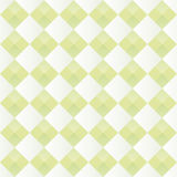 Pattern with alternating diamonds white and green Stock Photos