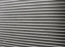 Car radiator pattern good for background. Pattern from aluminum car radiator Royalty Free Stock Photo