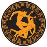 Pattern amphorae Stock Image