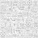 Pattern amusement park with icons on a white background. Royalty Free Stock Image