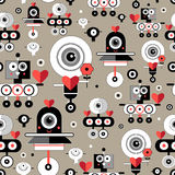 Pattern amusing lovers robots Royalty Free Stock Photography