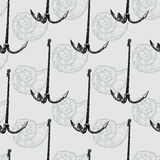 Pattern of the anchor Royalty Free Stock Photos