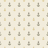 Pattern with anchors on light beige background Stock Photo