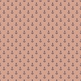 Pattern with anchors on reddish background Stock Photography