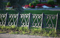 Pattern on ancient cast iron fence Royalty Free Stock Photos
