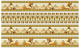 Pattern with ancient Egyptian symbols Stock Photo