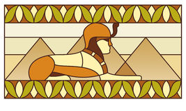 Pattern with ancient Egyptian symbols Stock Images