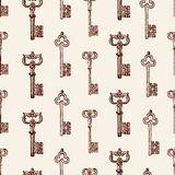 Pattern of ancient keys Royalty Free Stock Images