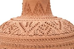 Pattern on ancient pottery Stock Photography