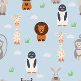 Seamless pattern with animals royalty free illustration