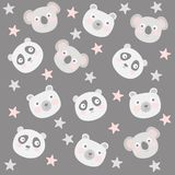 Pattern with animals royalty free illustration