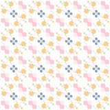 Pattern with animals and elements, retro royalty free stock photos