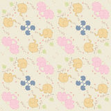 Pattern with animals and elements, retro  Stock Images