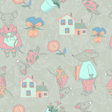 Pattern with animals Stock Photos