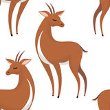 Pattern with antelopes Royalty Free Stock Photography