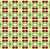 Pattern with apple seamless texture Stock Images