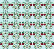 Pattern with apple seamless texture Stock Photo