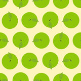 Pattern with apple top view Stock Images