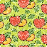 Pattern with apples Royalty Free Stock Images