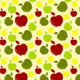 Pattern with apples. Seamless pattern with apples in grunge style Stock Images