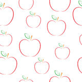 Pattern with apples. Stock Images