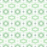 Pattern with Arabic motifs in cool mint green Royalty Free Stock Images