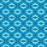 Pattern with Arabic motifs in shades of blue Royalty Free Stock Photos
