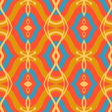 Pattern with Arabic motifs in vibrant colors Royalty Free Stock Photography