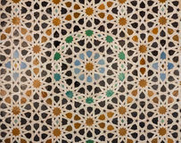 Pattern of arabic tiling or mosaic Stock Photos
