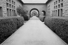 Pattern of arches. black & white. Campus concept Stock Photography